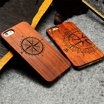 Endemnite - Full Cover Wood Case For Apple iPhone 6S Plus