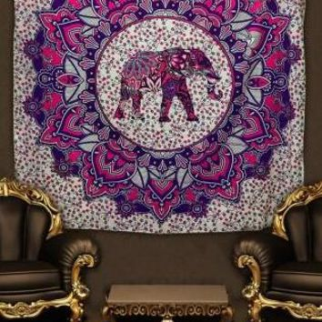 India Elephant Printed Mandala Tapestry Decorative Hanging Wall Tapestries 150X200Cm Hanging Towel For Home Decor