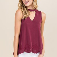 Pandora Gigi Embroidered Cupro Tank