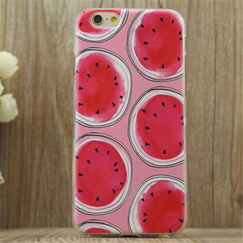 Watermelon Print Summer iPhone 5/5S/6/6S/6 Plus/6S Plus creative case Gift Very Light creative case-22