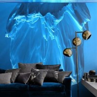 Wall removable sticker mural iceberg