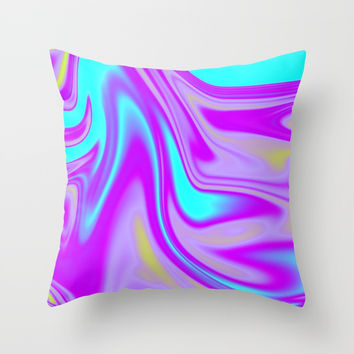 Abstract Fluid 4 Throw Pillow by Arrowhead Art