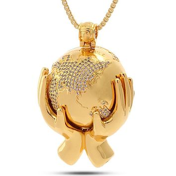 The Globe Necklace - Designed by Snoop Dogg x King Ice