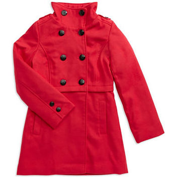 Jessica Simpson Girls 7-16 Double Button Coat