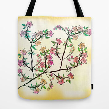 Cherry Blossoms Tote Bag by Famenxt