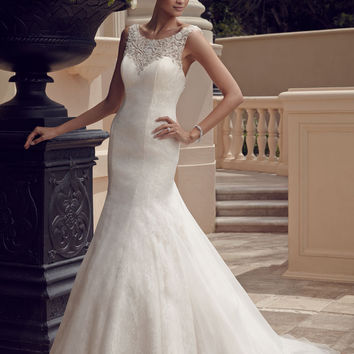 Casablanca Bridal 2185 Beaded Lace Mermaid Wedding Dress
