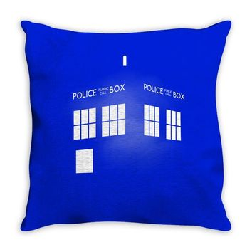 Tardis Doctor Who Throw Pillow