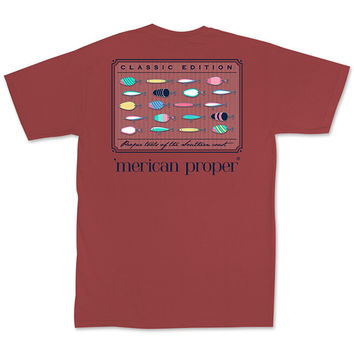Merican Proper Southern Fishing Tools Pigment Dyed T-Shirt