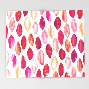 Colors of Autumn  Throw Blanket by TigaTiga Artworks