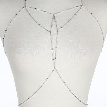 Simple Detail Silver Body Chain