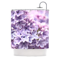 "Sylvia Cook ""Lilac"" Purple Flowers Shower Curtain"