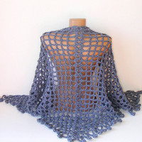 hand crocheted women shawl, 2013 crochet trend, fashion women accessory, warm, stole, wrap