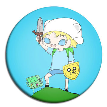 Adventure Time Finn and Jake button by BlebsCornerstore on Etsy