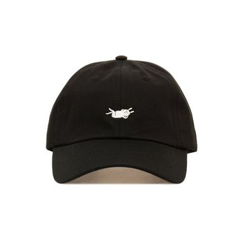 Embroidered Strike Gently Rabbit Dad Hat - Baseball Cap / Baseball Hat