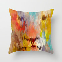 Lion Throw Pillow by Alex Kendall Ogle