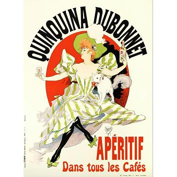 Quinquina Dubonnet - Limited Edition Hand Pulled Lithograph on Paper by the RE Society