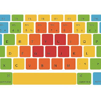 Creative Colorful Keyboard Stickers / Decals For MacBook (Pro 15 Inch Retina)