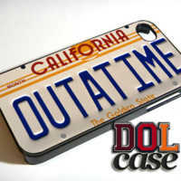 Outatime Back To The Future California License iPhone Case Cover|iPhone 4s|iPhone 5s|iPhone 5c|iPhone 6|iPhone 6 Plus|Free Shipping| Beta 419