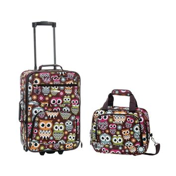 2 PC LUGGAGE SET (US Seller) Roll aboard, carry on, luggage, suitcase, 2 piece Set, Expandable