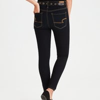 AEO Denim X4 Super Hi-Rise Jegging, Coldwater Rinse
