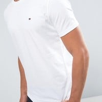 Tommy Hilfiger Flag Icon T-Shirt In Organic Cotton In White at asos.com