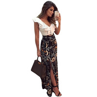 Summer casual maxi dress boho clothing style long dresses for women