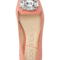 Sole Society 'Libry' Embellished Pointy Toe Flat (Women) | Nordstrom