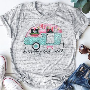 Happy Camper, Camper. T-Shirt