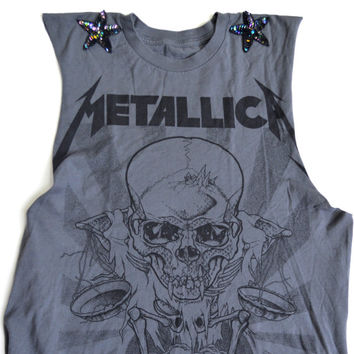 Reworked METALLICA Crop Top