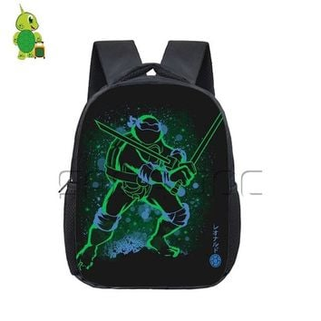 Toddler Backpack class Cool Teenage Mutant Ninja Turtles Fluorescence Backpack Kids Book Bag Colorful Leo Raph Students School Bags  AT_50_3