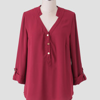Wine Date Blouse