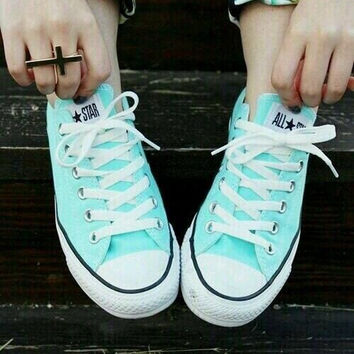 Converse  Leisure Comfort Shoes All Star Sneakers for Unisex sports Mint green