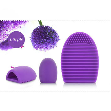 1pc Purple Brush egg Silicone Brush Cleaning Cosmetic Make up Brush Cleaner Clean Tools for mac Makeup