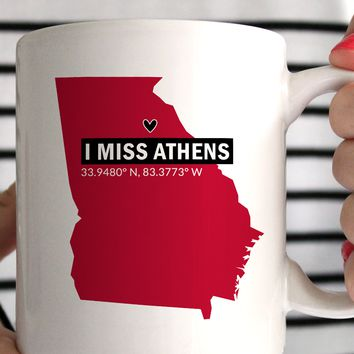 I Miss Athens UGA Coffee Mug