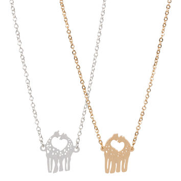 Love Giraffe Necklace - Cute Animal Necklace for Everyday Wear