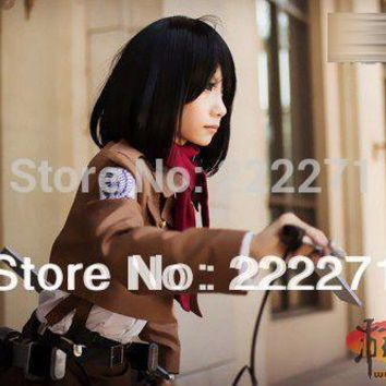 Cool Attack on Titan  Coat Jacket Scouting Legion Clothes Cosplay Costumes  Track Anime costume dress AT_90_11