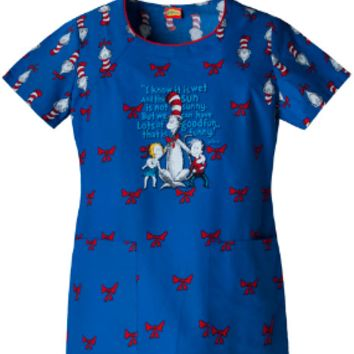 Dr. Seuss Cat In The Hat Scrub Top - Cherokee 6817