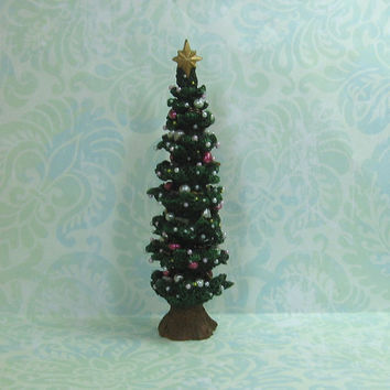 Dollhouse Miniature Christmas Tree with Pearls