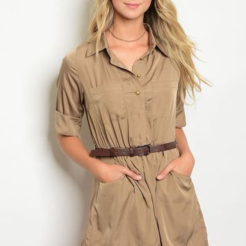 Ladies 3/4 cuffed sleeves fashion woven romper