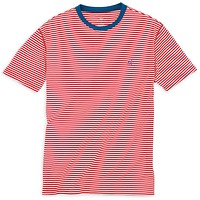 Liberty Stripe Performance Tee Shirt in Varsity Red by Southern Tide
