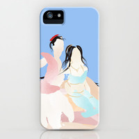 Disney - Aladdin & Jasmine iPhone Case by Jessica Slater Design & Illustration