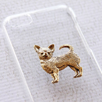 Chihuahua Apple iPhone 5C Gold Plated Cute Clear Shiny Cellphone Hard Case iPhone 6 Case