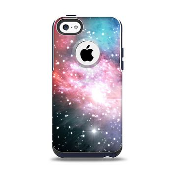 The Colorful Neon Space Nebula Apple iPhone 5c Otterbox Commuter Case Skin Set
