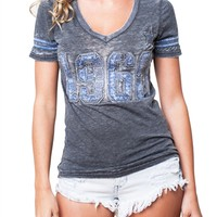 Dallas Cowboys Womens Tshirt Vintage Vneck | SportyThreads.com