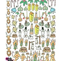 XMAS SPECIAL WATER SLIDE NAIL DECALS