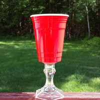 Red Solo Cup Party Glass || Hillbilly Redneck Rednek Wine Glass Funny Gift Birthday