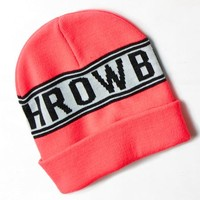 AEO Women's throwback Beanie (Pink Boom)