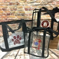 Clear Stadium Totes with Design