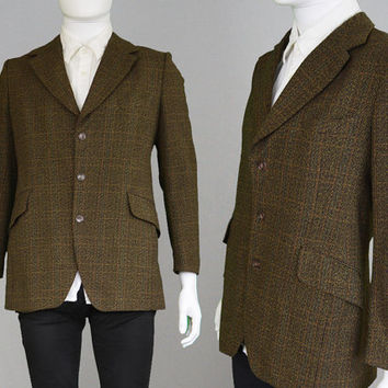 Vintage 60s JOHN COLLIER Mens Tweed Blazer Brown Blazer Sport Coat Mod Jacket 1960s Blazer Mod Clothing Slim Fit Tailored Jacket Wool Blazer