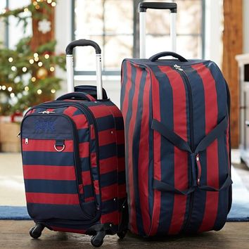 Getaway Red/Navy Rugby Carry-On Suitcase